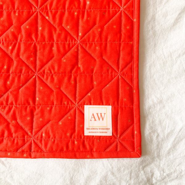 Red Jester Quilt - Throw Size