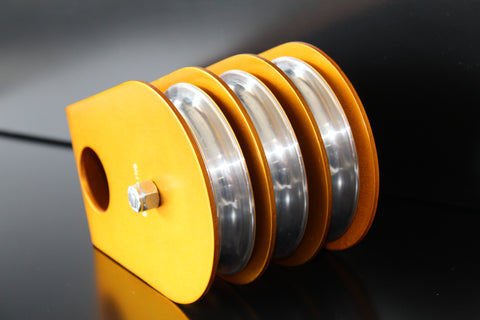 "RSI 4"" Triple Sheave Pulley- Gold"