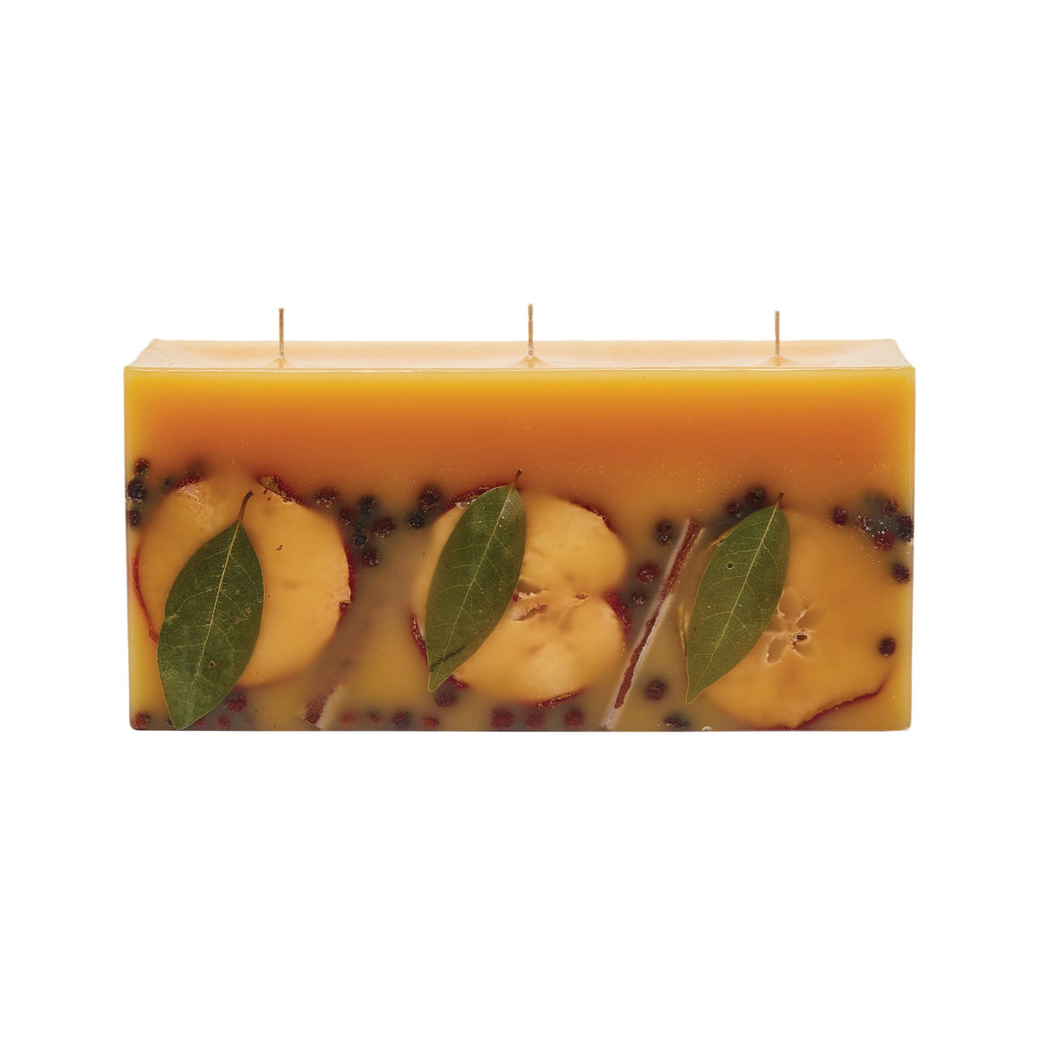 Brick Botanical Candle- Spicy Apple