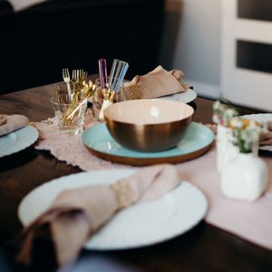 "8"" Blush & Copper Brunch Bowl"