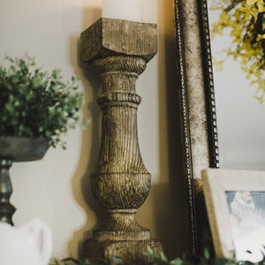 Isadore Wood Pillar Candle Holders