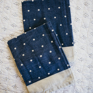 Set of 4- Polka Dot Napkins