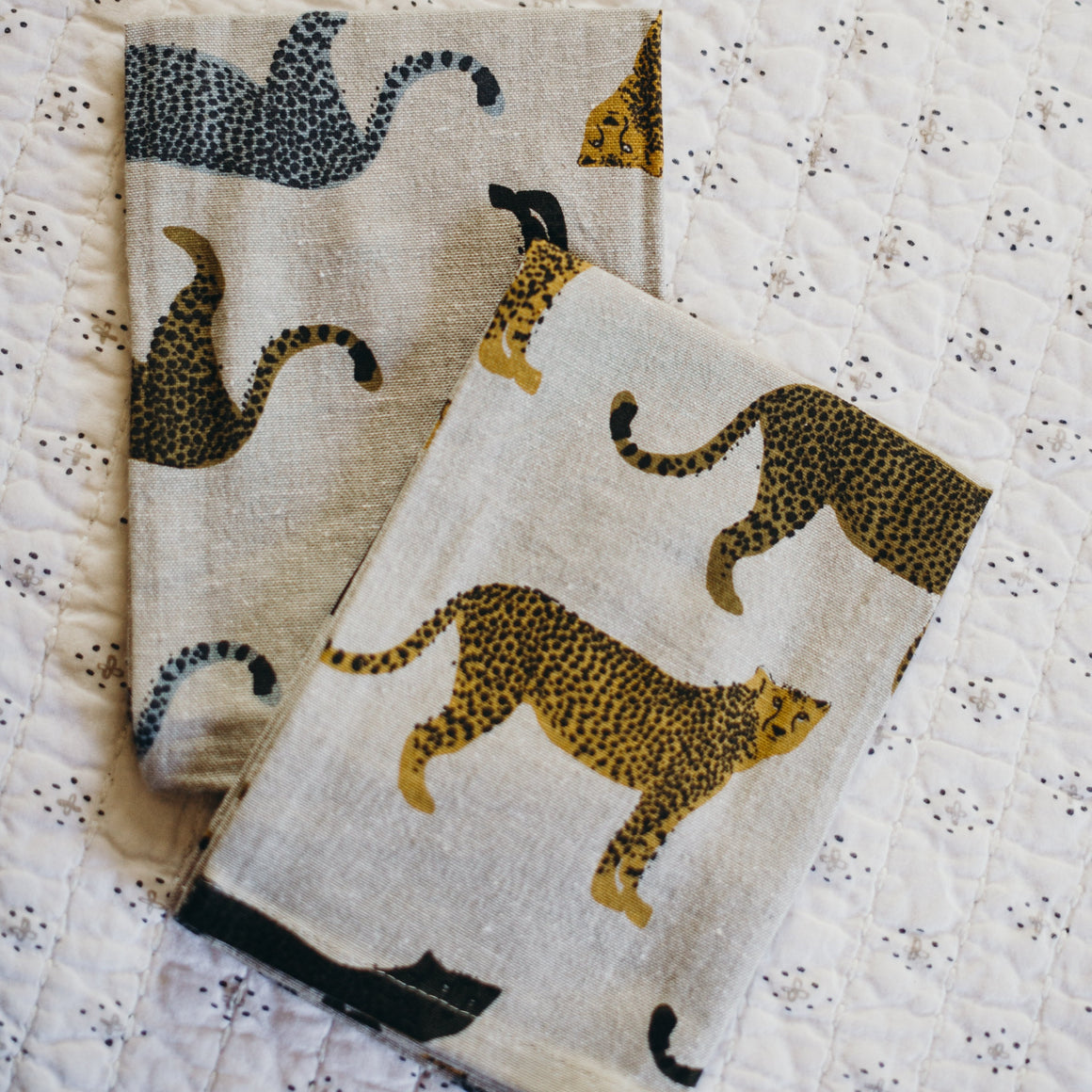 Set of 4- Cheetah Napkins