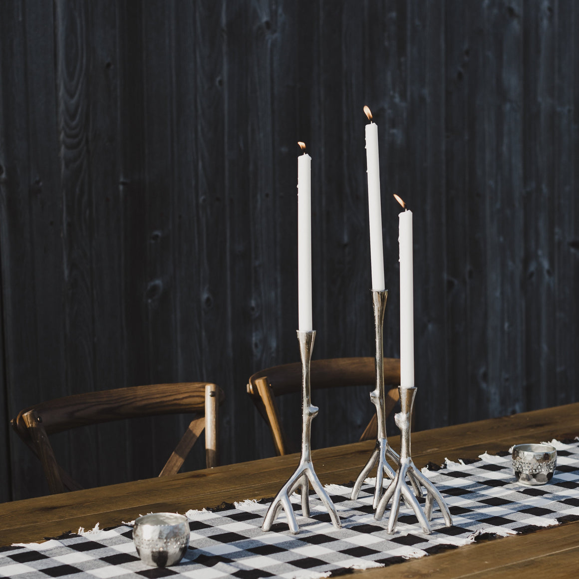 Aluminum Twig Candle Holder