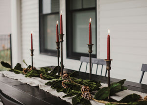 Velvet Vintage Tablescape (Burgundy Candles)