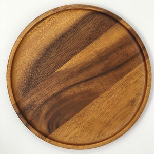 Acacia Wood Serving Plate and Charger
