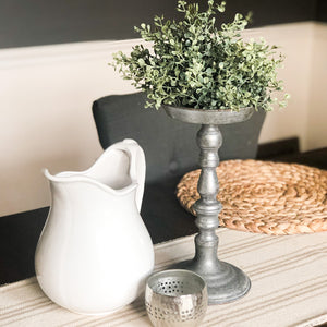 Whitestone Pitcher Farmhouse Centerpiece