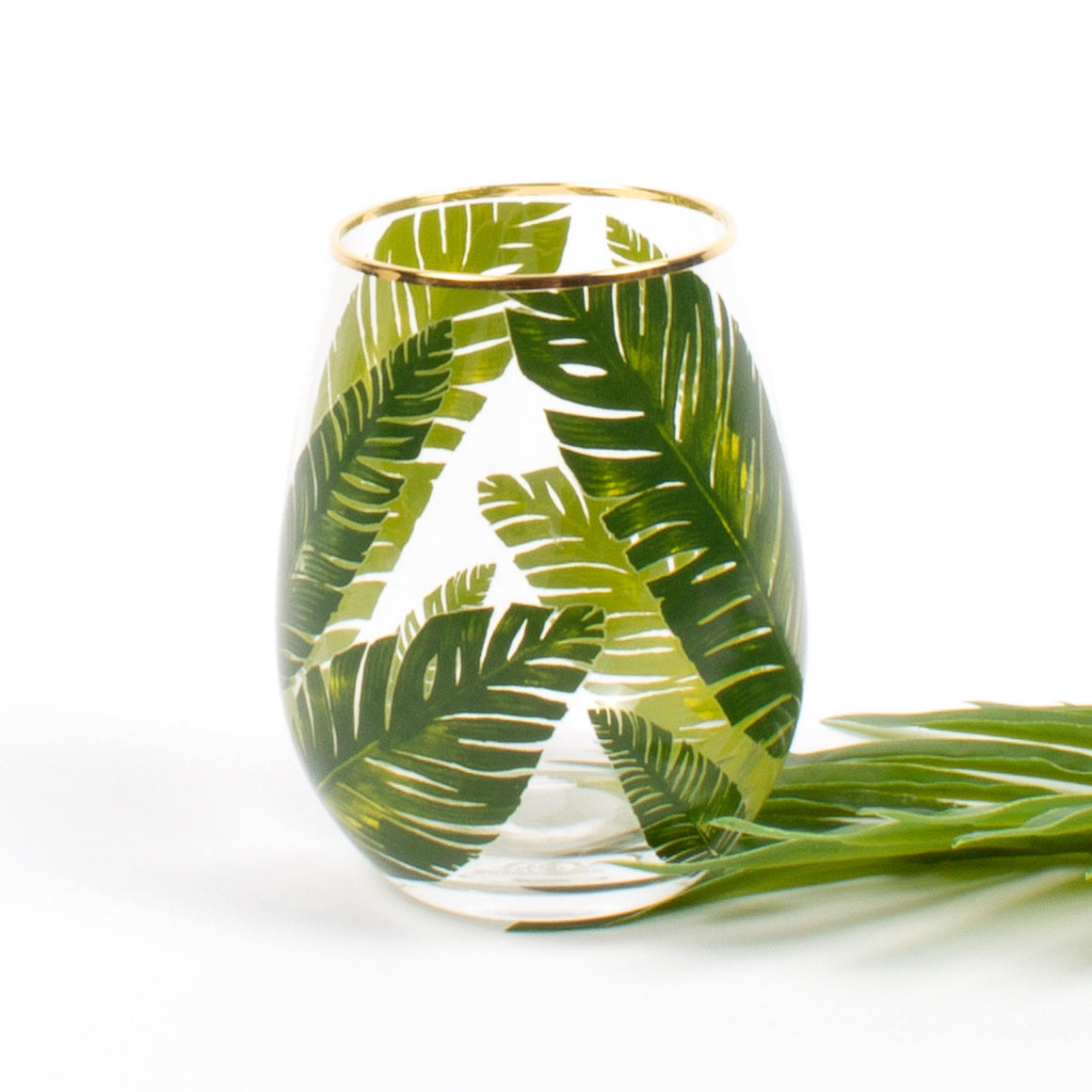 20oz Palm Stemless Wine Glass