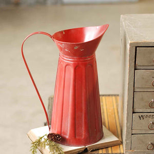 "15"" Red Farmhouse Pitcher"
