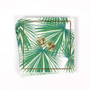 Paper Cocktail Napkins - Palm Fans