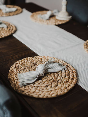 Braided Water Hyacinth Round Placemat (Set of 4)