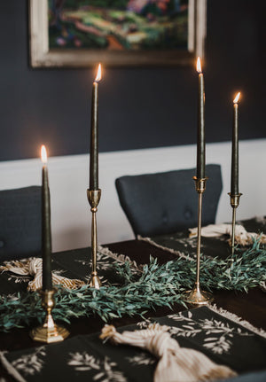 Brass Antique Style Candlesticks
