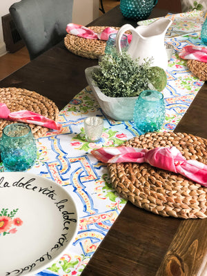 Under the Tuscan Sun Tablescape