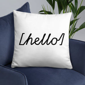 Hello Square Pillow