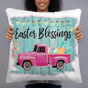 Easter Blessings Square Pillow