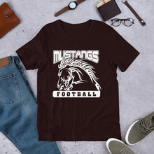 Load image into Gallery viewer, Mustang Football Unisex T-Shirt - White Imprint