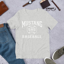 Load image into Gallery viewer, Mustang Baseball Unisex T-Shirt - White Imprint