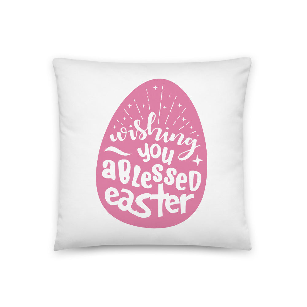 Blessed Easter Square Pillow