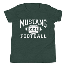Load image into Gallery viewer, Youth Mustang Football T-Shirt - White Imprint