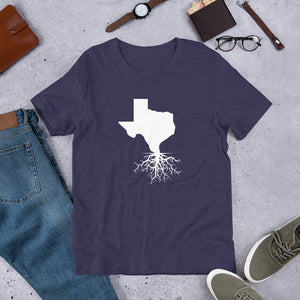Texas Roots Unisex T-Shirt - Front White Imprint