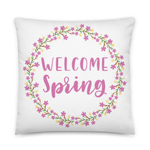 Load image into Gallery viewer, Welcome Spring Square Pillow