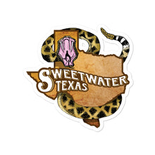 Load image into Gallery viewer, Rattlesnake RoundTexas Stickers