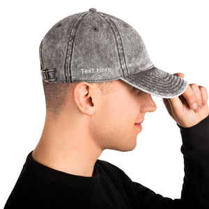 Personalized Vintage Cotton Twill Cap