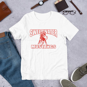 Sweetwater Mustang Unisex T-Shirt - Red Imprint
