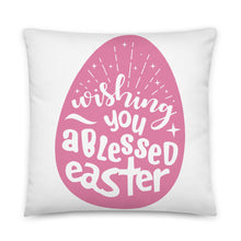 Load image into Gallery viewer, Blessed Easter Square Pillow
