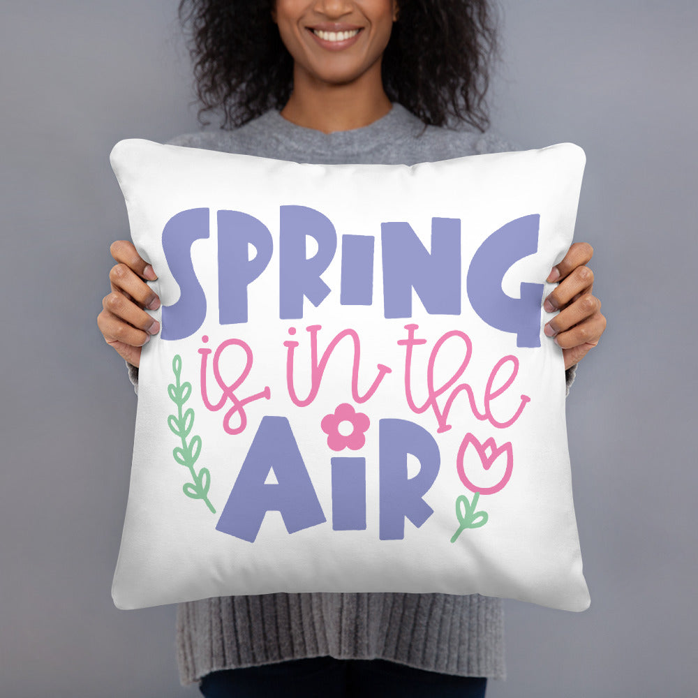 Spring is in the Air Square Pillow