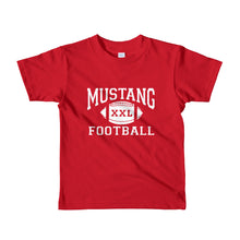 Load image into Gallery viewer, Mustang Football Short sleeve kids t-shirt