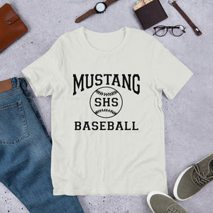 Mustang Baseball Unisex T-Shirt - Black Imprint