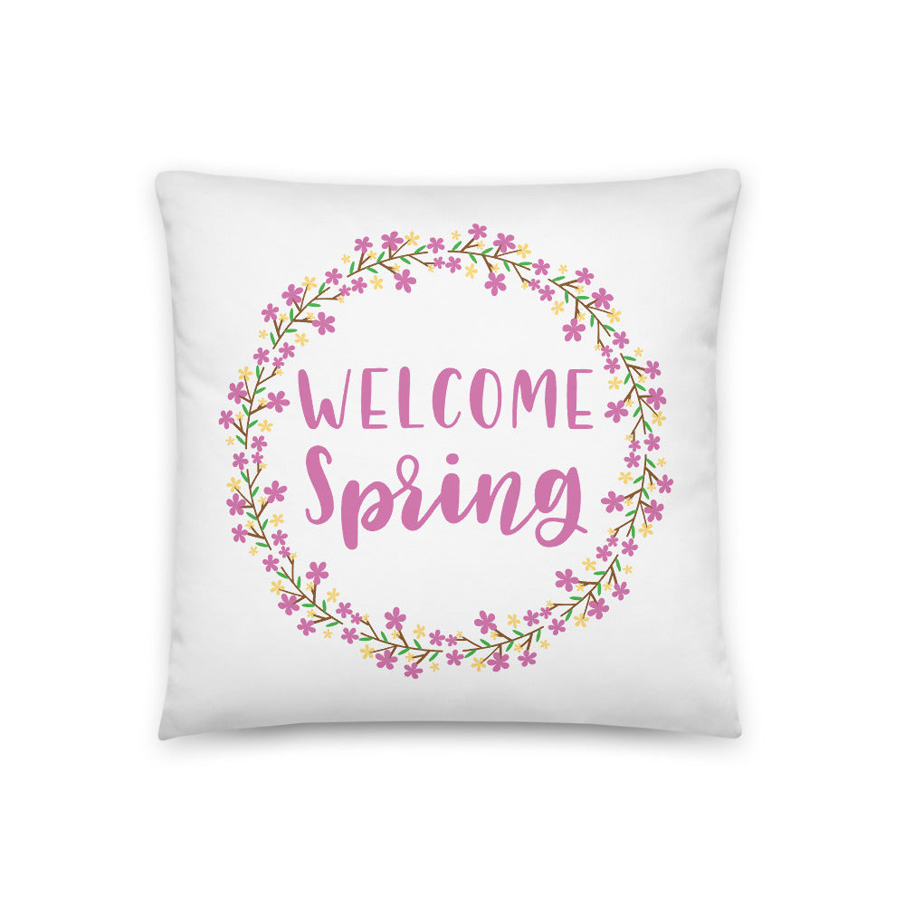 Welcome Spring Square Pillow