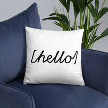 Load image into Gallery viewer, Hello Square Pillow