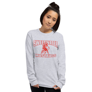 Sweetwater Mustangs Long Sleeve T-Shirt - Red Imprint
