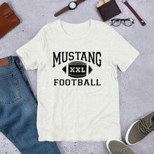Load image into Gallery viewer, XXL Mustang Football Unisex T-Shirt - Black Imprint