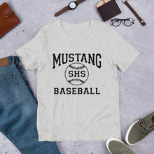 Load image into Gallery viewer, Mustang Baseball Unisex T-Shirt - Black Imprint