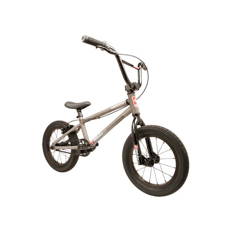 "2020 Fit Misfit 14"" BMX Bike matte clear raw"
