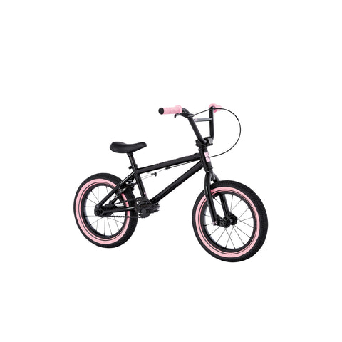 "2021 Fit Misfit 14"" Bike Gloss Black Pink Complete BMX Bikes 2020"