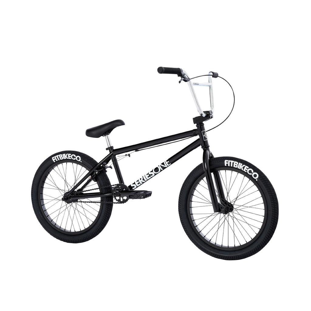 2021 Fit Series One Bike MD Gloss Black Complete BMX Bikes 2020