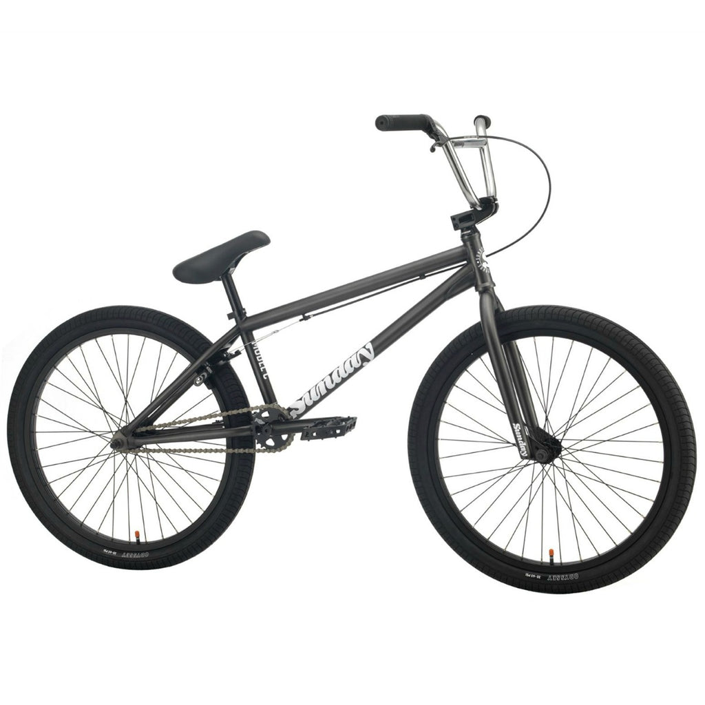 "2021 Sunday Model C 24"" BMX Bike matte trans grey BMX Cruiser BIkes 2020"