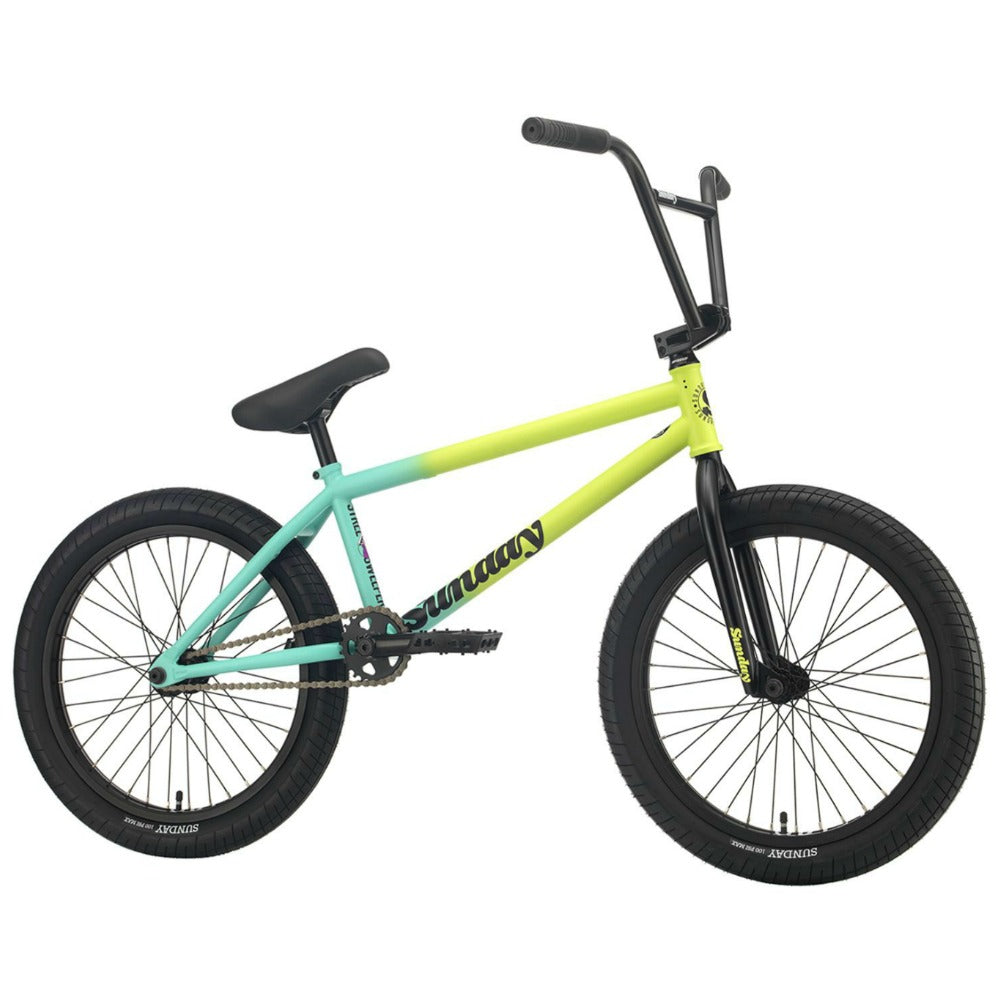 2021 Sunday Street Sweeper Bike matte green fade Jake Seeley BMX Bikes 2020