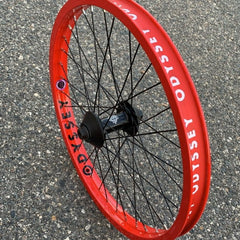 Odyssey C5 Quadrant Front Wheel fire engine red BMX Wheels