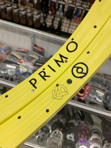 Primo VS Rim matte yellow BMX Rims