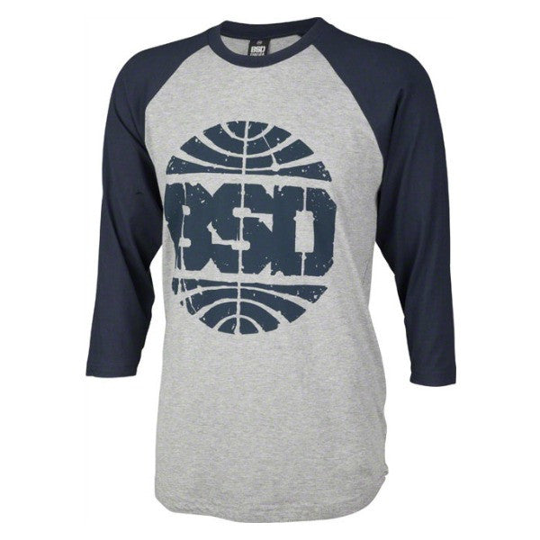 BSD Passenger 3/4 Sleeve Shirt Tee raglan navy blue heather