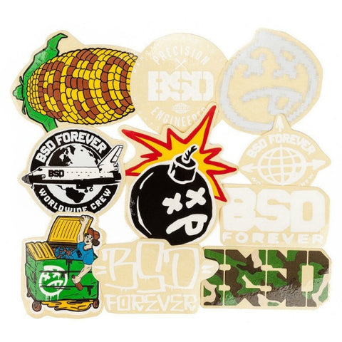 S/&M BMX Small Shield Decals Pack of 100 Black//White Stickers