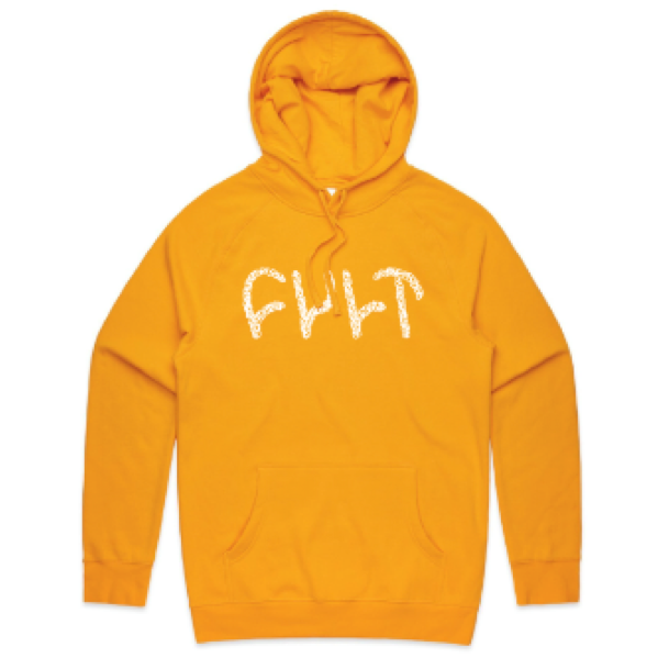 Cult Scribble Pullover hoodie gold Yellow BMX
