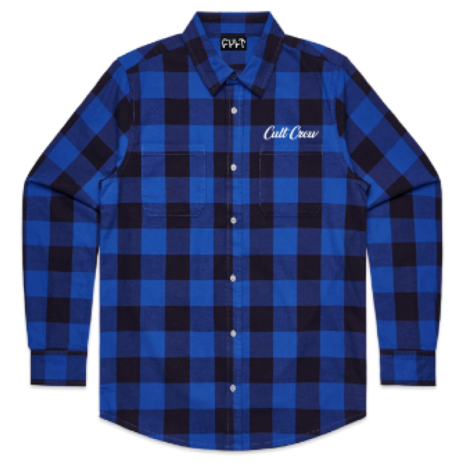 Cult Script Flannel blue BMX Shirt