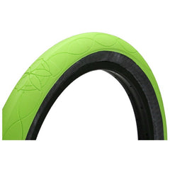 Cult AK Tire fluorescent green bmx tires