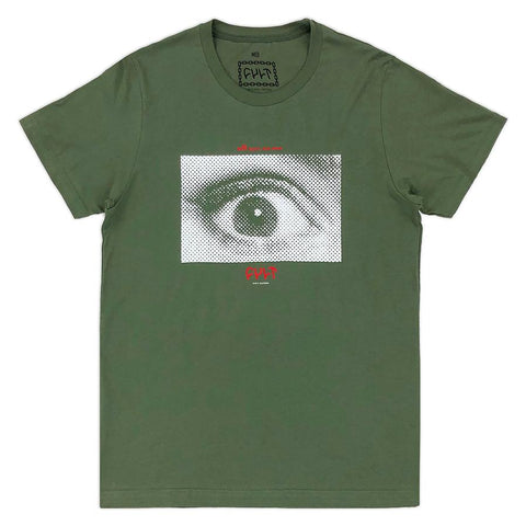 Cult All Eyes Shirt green BMX Tee